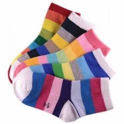 Chaussettes Enfant Rayée Multicolores Mixte