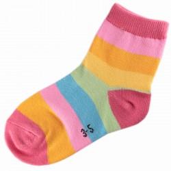 Pack de 3 Paires Chaussettes Enfant Rayée Multicolores Mixte