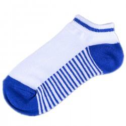 Socquettes Blanc/Bleu Rayée Garçon