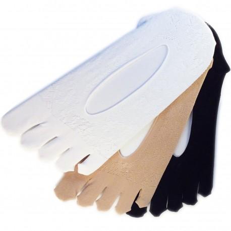 Pack de 6 Paires Socquettes à Doigt Sans Couture Toe Toe