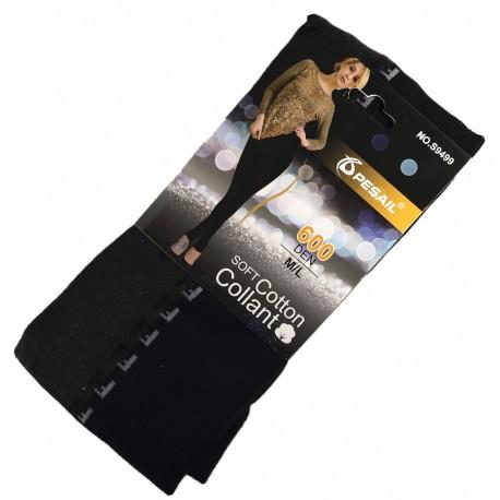 Collant Coton Sans Pied 600DEN