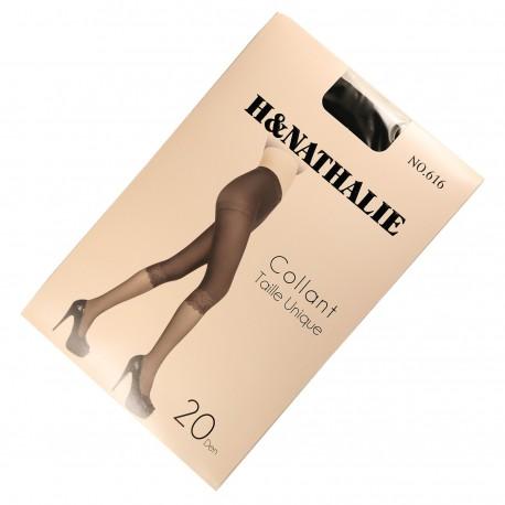 Collant Fantaisie Effet Leggings 20DEN Noir