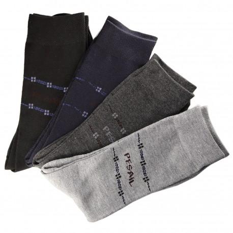 Pack de 12 Paires Chaussettes Assorties Homme Classique Coton