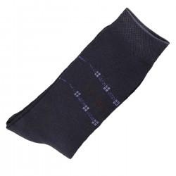 Pack de 2 Paires Chaussettes Homme Classique Coton Bleu Marine