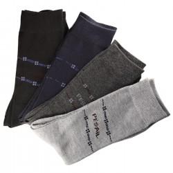 Pack de 6 Paires Chaussettes Assorties Homme Classique Coton