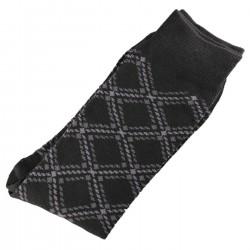 Pack de 2 Paires Chaussettes Homme Classique Coton Noir