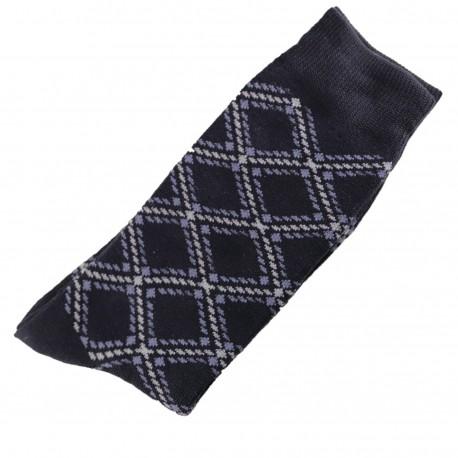Chaussettes Homme Classique Coton Bleu Marine