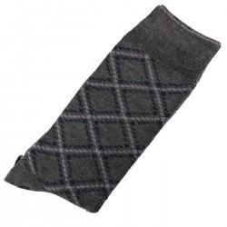 Pack de 2 Paires Chaussettes Homme Classique Coton Gris Anthracite