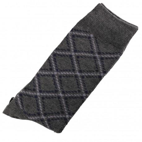 Pack de 2 Chaussettes Homme Classique Coton Gris Anthracite