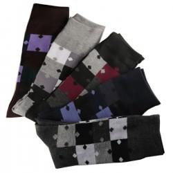Pack de 12 Paires Chaussettes Assorties Homme Puzzle Coton