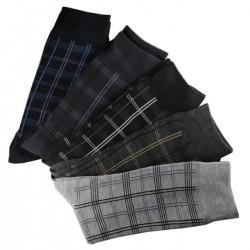 Pack de 12 Paires Chaussettes Carreaux Assorties Homme Coton
