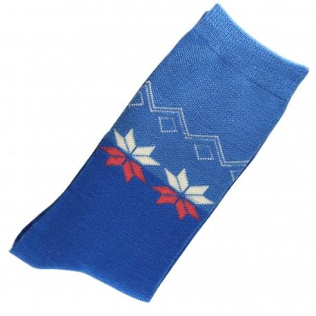 Chaussettes Femme Coton bicolore Bleu/Turquoise