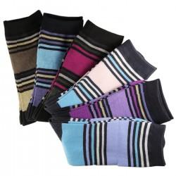 Pack de 12 Paires Chaussettes Mixte Coton Rayée Multicolore