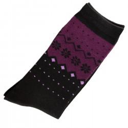 Pack de 2 Paires Chaussettes Femme Coton Noir