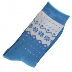 Pack de 2 Paires Chaussettes Femme Coton Bleu