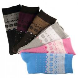 Pack de 6 Paires Chaussettes Assorties Femme Coton