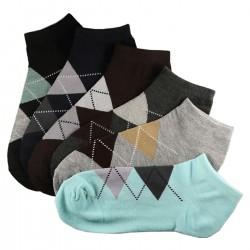 Pack de 12 Paires Socquettes Assorties Coton Femme Ecossais T.U.