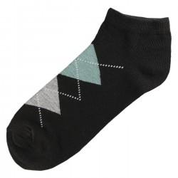 Pack de 3 Paires Socquettes Coton Homme Ecossais T.U.Noir