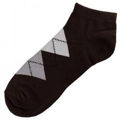 Pack de 3 Paires Socquettes Coton Homme Ecossais T.U. Marron