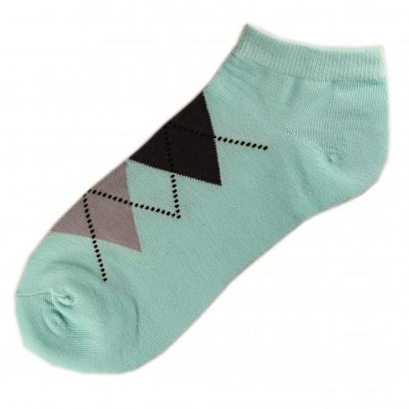 Pack de 3 Paires Socquettes Coton Homme Ecossais T.U. Bleu