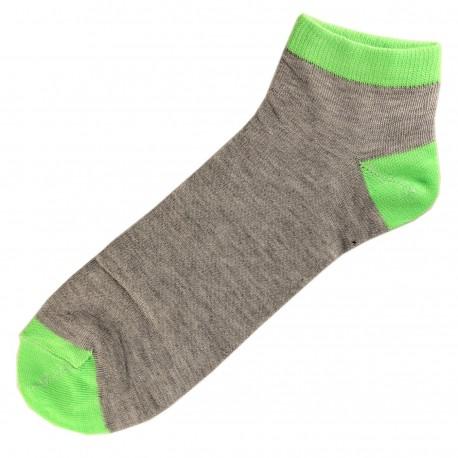Socquettes Coton Homme T.U. Vert Anis