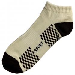 Pack de 3 Paires Socquettes Coton Sport Homme T.U. Beige