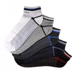 Pack de 5 Paires Socquettes Assorties Coton Sport Homme T.U.