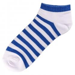 Socquettes Coton Rayée Femme T.U. Bleu
