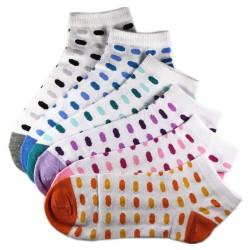 Pack de 6 Paires Socquettes Assorties Coton Ovale Femme T.U.