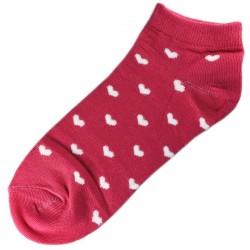 Socquettes Coton Coeur Femme T.U. Fuchsia