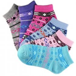 Pack de 12 Paires Chaussettes Assorties Fille Coton Motifs Nordiques