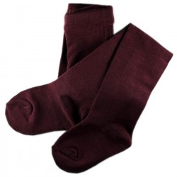 Collant Enfant Coton UNI Bordeaux