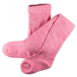 Collant Enfant Coton UNI Rose