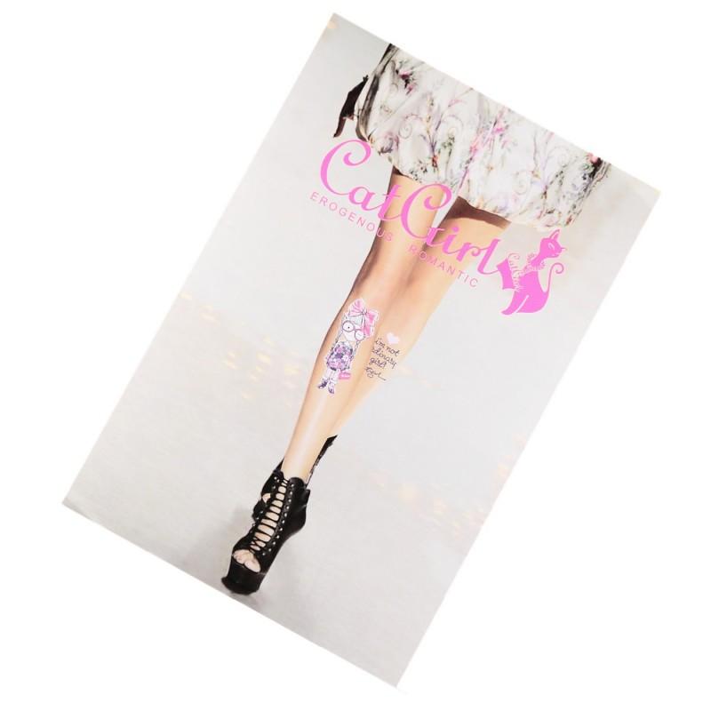 Fabuleux Collant Fantaisie Tatouage Petite Fille Tatoo SEXY T.U. Livraison  SL18