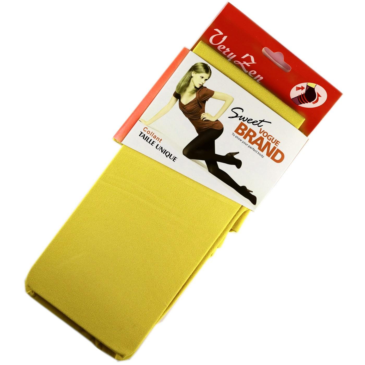 collant opaque color 60den jaune color block livraison gratuite modebasfr - Collants Opaques Colors