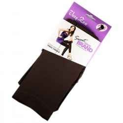 Legging Opaque Coloré 60DEN Chocolat Color Block