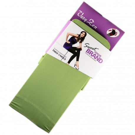 Legging Opaque Coloré 60DEN Vert Color Block