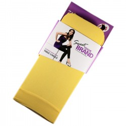 Legging Opaque Coloré 60DEN Jaune Color Block