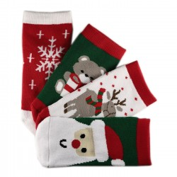 Pack de 4 Paires Chaussettes Chaudes Enfant Noël