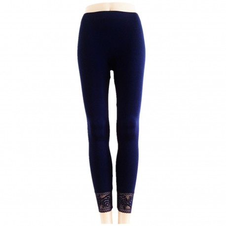 Leggings Opaque BLEU MARINE