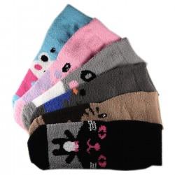 Pack de 6 Paires Chaussettes Chaudes Motif Dessin Animé T.U.