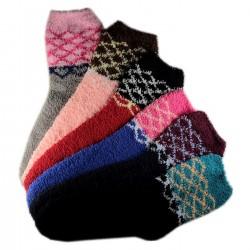 Pack de 6 Paires Chaussettes Chaudes Assorties Polaire T.U.