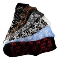 Pack de 6 Paires Chaussettes Chaudes Assorties Polaire Mixte Motif Nordique T.U.