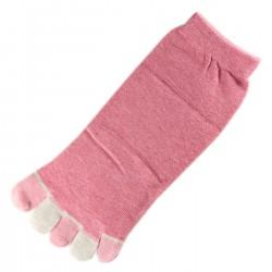 Socquettes à doigts Rose T.U.