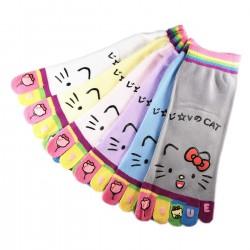 Pack de 6 Paires Socquettes à doigts Nounours Assorties T.U.