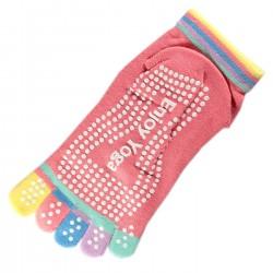 Socquettes à doigts Enjoy Yoga Rose T.U.