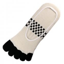 Socquettes INVISIBLE à doigts Beige T.U.