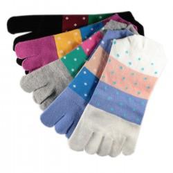 Pack de 5 Paires Chaussettes à doigts Mixte T.U.