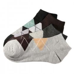 Pack de 4 Paires Socquettes Assorties Coton Homme Ecossais T.U.